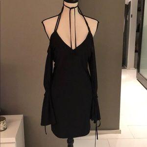 Misguided slinky black dress